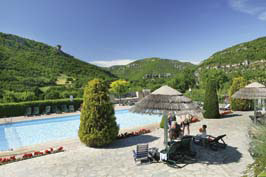 Val de Cantobre - Just one of the great campsites in Rhone Alpes, France