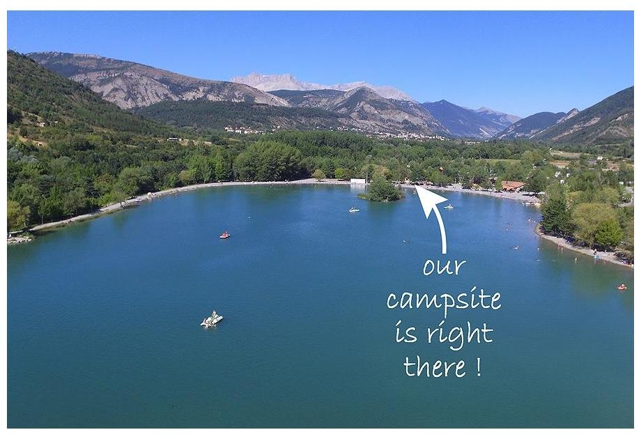 Campsite Les Rives du Lac - Holiday Park in Veynes, Provence-Cote-dAzur, France